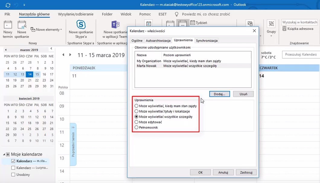 outlook kalendar szaring